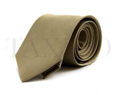 Pánská široká kravata - zlatá