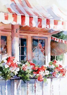 Watercolor City, Watercolor Fruit, Watercolor Artists, Watercolor Sketch, Watercolor Background, Watercolor Landscape, Watercolor And Ink, Watercolor Flowers, Watercolor Paintings