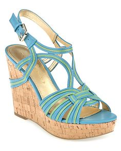 """Some of you have to get in on this: Ivanka Trump """"Honey"""" Leather Wedge Sandal"""