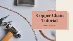 DIY Simple Copper Chain Tutorial/ Wire Wrapping Technique/ Beginner/ Stop Motion Video Motion Video, Stop Motion, Bent Nose, Wire Spool, Wire Tutorials, Necklace Chain, Wire Wrapping, Wraps