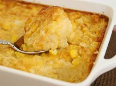 This recipe was passed down to my mother from my grandmother(Nanny) who passed away 2 years ago. My mom always made Corn Pudding for the major Holidays and we kids grew up with this delicious pudding on the table every year. It spoons up as sweet and creamy as custard. Guests give it rave reviews and always ask for the recipe. This recipe is very nostalgic for my whole family as i'm sure it will become a family favorite for yours too. Hope you enjoy! ***this is a double recipe, so you ma...