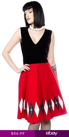 Sourpuss Hostess Adult Punk Goth Diamond Rockabilly Vintage Party Dress  SPDR293 4bec56337