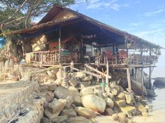 This is what restaurants on Koh Tao look like. Awesome!