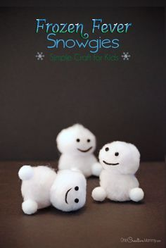 Olaf fans will love this Frozen Fever Snowgies Craft for kids. It's super easy and quick, and your home will be filled with baby snowmen in no time. Disney Frozen Party, Frozen Birthday Party Games, Birthday Party Games For Kids, Frozen Theme, Elsa Birthday, Turtle Birthday, Turtle Party, Olaf Frozen, Winter Crafts For Kids