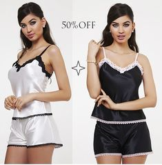 Ideias Fashion, Rompers, Dresses, Summer Nights, Women's Sleepwear, Satin, Lace, Vestidos, Romper