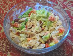 Deluxe BLT Pasta Salad Recipe - By Janae Chang - From Pink Dandy Chatter