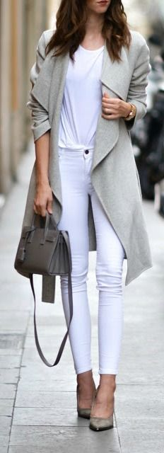 #fall #outfits / gray coat