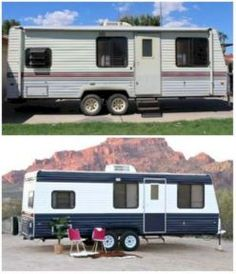 Rv Kitchen Renovation Rustic Modern Campers And The Doors