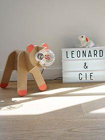 Lampe ours - lampe en bois - lampe en kit - lampe enfant - veilleuse - corail - déco chambre enfant - kidsroom decor - nursery decor - handmade - cadeau naissance - léonardetcie - léonard&cie - ampoule love