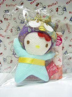 "HELLO KITTY x Badtzmaru Sanrio JAPAN Puroland Chirimen Plush Doll Charm Strap : *Condition* NEW! Released in 2007 Exclusive to Sanrio JAPAN Puroland only! *Size* About 3.7"" (9.5cm) in height 49.99-69.99 (4/4.50/5)"