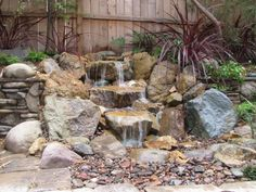 Small Pondless Waterfall in Carlsbad, CA