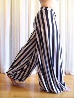 Pantaloons harem pants - striped - YOUR SIZE. $60.00, via Etsy.