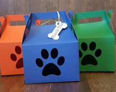 Paw Patrol Favor Box Paw Patrol Treat Bags by TriniGirlTreats