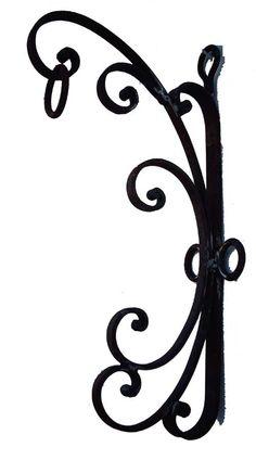 wrought iron bracket to hang a lot mason jar