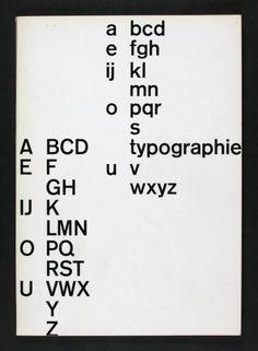 Emil Ruder, Typographie-Buchgestaltung / Buchkunst