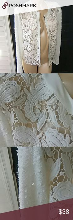 JOSEPH RIBKOFF Gorgeous,  zipper for looks only.  Has Cami to go under it. Joseph Ribkoff Jackets & Coats