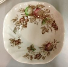 JOHNSON BROTHERS China HARVEST TIME Brown Multicolor SQUARE CEREAL BOWL
