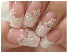 Wedding Nails For Bride, Wedding Nails Design, Bride Nails, Wedding Ring, Wedding Manicure, Beach Wedding Nails, Wedding Hairs, Nails For Brides, Jamberry Wedding