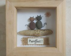 Pebble Art framed Picture Side by Side by Jewlls4u on Etsy