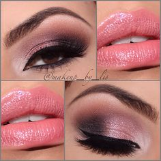 In celebration of Valentine's Day I put together this pretty sweet in pink Valentine's Day inspired makeup look. It's a dramatic yet simple pink shimmery eye l