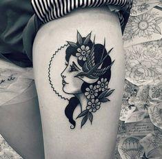 by our apprentice Ali Fisher alison wonderland (at WA Ink Tattoo) - - tatowierung Head Tattoos, Arm Tattoo, Body Art Tattoos, Sleeve Tattoos, Gypsy Tattoos, Arabic Tattoos, Dragon Tattoos, Tattoo Ink, Gypsy Tattoo Sleeve