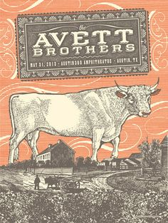 Avett Brothers by Status Serigraph