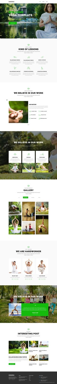 Signoria is clean, soft and modern #WebFlow template for #yoga and #meditation…