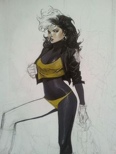 thewayilikecomix:    Rogue doodle, Olivier Coipel.
