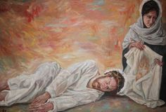 Rob Floyd Fine Art - Stations of the Cross, Christ Falls for the Second Time (Sixth Seventh Station)130cm x 194cm