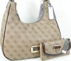 42a7b095b6d New Guess G Logo Purse Satchel Bag   Wallet 2 Piece Matching Set Black  White  Handbags  Amazon.com
