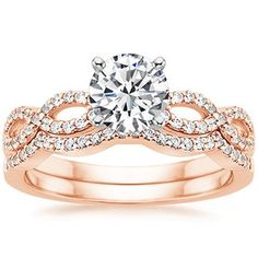 853f86c1cfe 14K Rose Gold Infinity Diamond Ring with 1.27 carrot diamond omg gorg!  Aneis