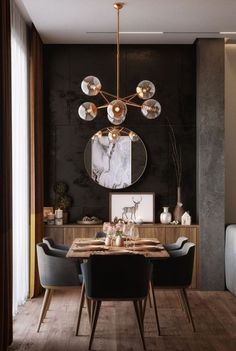 Luxury Dinning Room, Dining Room Design, Dining Room Furniture, Furniture Decor, Modern Furniture, Modern Interior, Dining Chairs, Modern Luxury, Outdoor Furniture