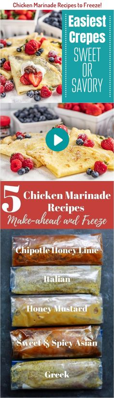 Chicken marinade recipes are the easiest recipe to make-ahead and freeze. In this tutorial I'll show how to make and freeze the best chicken marinades. Chicken Marinade Recipes, Chicken Marinades, Koulourakia Recipe, Hatian Food, Talipia Recipes, Baking Recipes, Healthy Recipes, Recipe Boards, Frozen Meals
