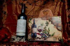 Декупаж - Сайт любителей декупажа - DCPG.RU   Винный короб In vino veritas #decoupage #art #handmade