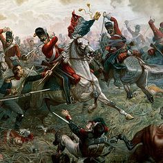 Uniform Painting - Battle Of Waterloo by William Holmes Sullivan Military Diorama, Military Art, Military History, Waterloo 1815, Battle Of Waterloo, Luis Xiv, Historia Universal, War Dogs, Drawing Projects