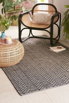 Discover black and white furniture, room decor, and more at Urban Outfitters. Whether adding to your current aesthetic or starting from scratch, we've got what you'll love. Outdoor Rooms, Indoor Outdoor, Outdoor Living, Staircase Carpet Runner, Geometric Arrow, Wall Carpet, Beige Walls, Modern Boho, Scandinavian Interior