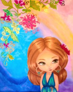 """""""The Earrings"""" by, Jade Dragonne.  Colored by, Cristina B."""