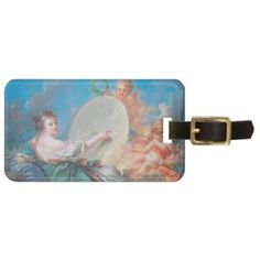 Allegory of painting Boucher Francois rococo lady Tags For Bags #allegory #painting #boucher #Paris #France #art #woman #girl #cherubs #angels #rococo #accessory #gifts #classic #customizable #home #decoration