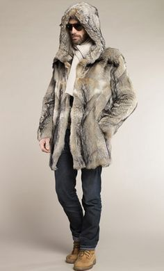35 Ways to Stylish in Snow for Men - Fashionetter Fur Fashion, Mens Fashion, Mens Fur, Fabulous Furs, Stylish Men, Fur Coats, How To Wear, Jackets, Blazer