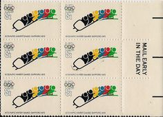 Olympics 1972 Postage Stamps Winter Games Sapparo by Quilrdil