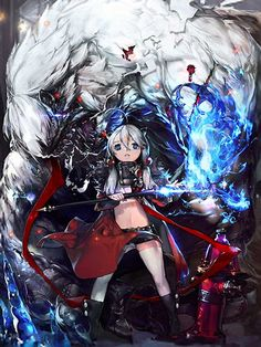 Artist: Lee Wang Su aka Ctype - Title: Unknown - Card: Yunica & the White Fury