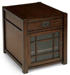 Flexsteel Furniture: Sonoma chairside chest, a perfect compliment to a Flexsteel sofa. #sidetable #endtable