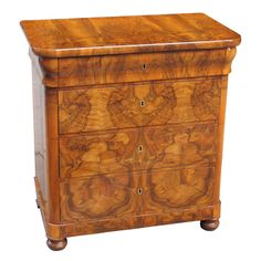 A Superb Small and Exemplary German Biedermeier Chest | From a unique collection of antique and modern commodes and chests of drawers at http://www.1stdibs.com/furniture/storage-case-pieces/commodes-chests-of-drawers/
