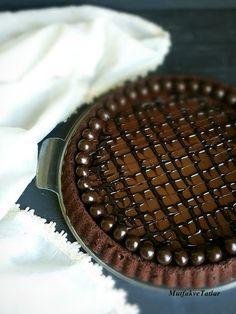 ÇİKOLATALI TART NASIL YAPILIR | Mutfak Ve Tatlar Tart Dough, Tart Recipes, How To Make Chocolate, Chocolate Recipes, Truffles, Cheesecake, Food And Drink, Pie, Yummy Food