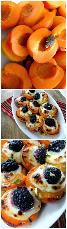 How To Roasted apricots blackberry drizzled with honey