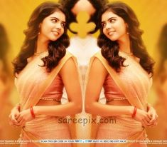 "Akhil's ""Hello"" movie heroine Kalyani Priyadarshan in half saree on movie poster. The young actress looks beautiful in half saree with sleeveless blouse. Beautiful Saree, Beautiful Indian Actress, Young Actresses, Indian Actresses, Hello Movie, Saree Backless, Embroidery Saree, Saree Look, Half Saree"