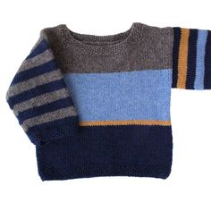 Classic Scandinavian Design from Lillestrik by Lene Randorff – Kindermode sommer Knit Baby Sweaters, Old Sweater, Boys Sweaters, Baby Boy Knitting Patterns, Knitting For Kids, Knitting Designs, Crochet Baby, Knit Crochet, Ravelry