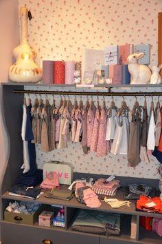 Pois.Plume Paris 9 ème. shop display, kids store.