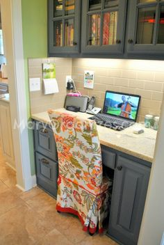 Kitchen command station: would love to have somewhere to charge phones, iPad, etc and organize mail