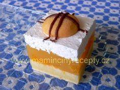 Mandarinkové řezy se šlehačkou Vanilla Cake, Treats, Sweet, Sweet Like Candy, Candy, Goodies, Sweets, Snacks